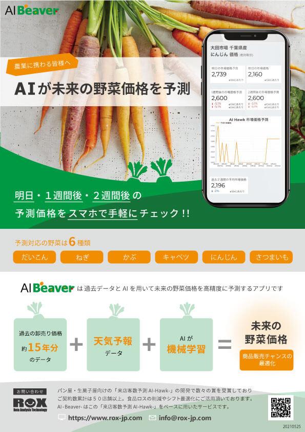 AIが未来の野菜価格を予測